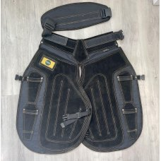 Pro Select All Black Long Apron W/Velcro