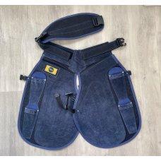 Pro Select All Blue Long Apron W/Velcro